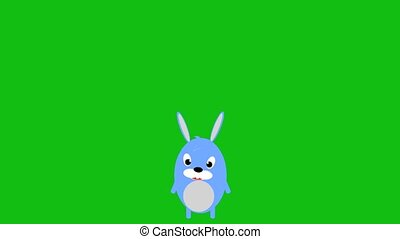 Cute rabbit, rabbit animation, jumping rabbit, scared rabbit.