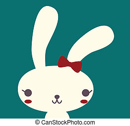 Cute Rabbit - Vector File EPS10