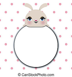 cute rabbit with text box