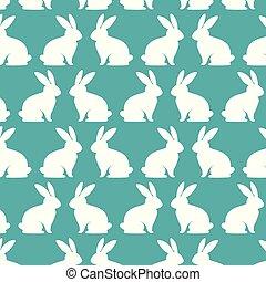 cute rabbits pattern background
