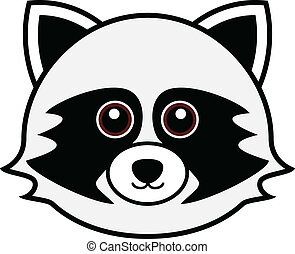 Cute Raccoon Vector - Cute animal faces in (One of 25 of...
