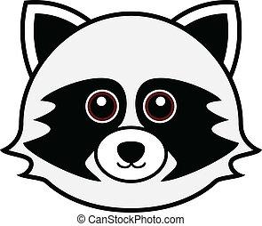 Cute Raccoon Vector - Cute animal faces in (One of 25 of...