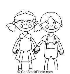 cute rag dolls icon