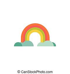 cute rainbow fairytale object isolated icon - fairytale ...