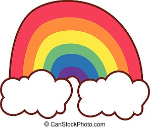 cute rainbow gay flag line and fill style icon