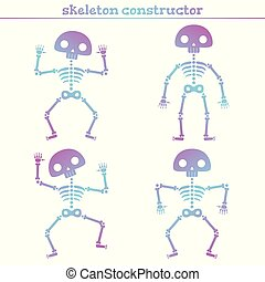 Cute rainbow human skeleton constructor for creating...