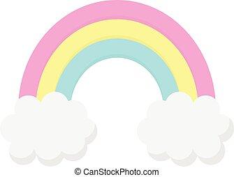 Cute rainbow vector illustration graphic icon