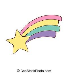 cute rainbow with star
