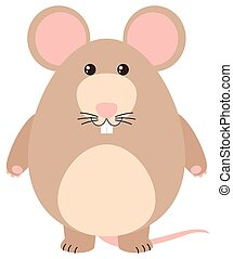 Cute rat with happy face
