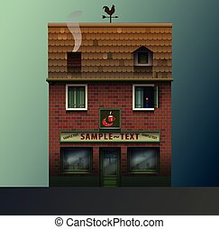cute realistic shop or cafe