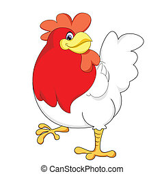 red chicken - cute red chicken vector