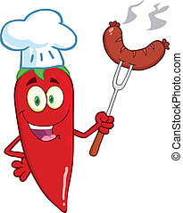 Red Chili Pepper Chef