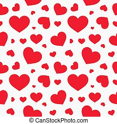 Cute red hearts seamless texture pattern.