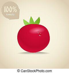 Cute red tomatoes illustration