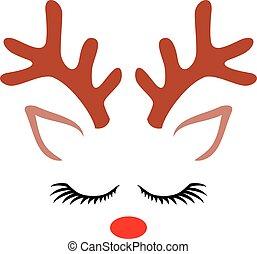 Cute Reindeer (Christmas design)