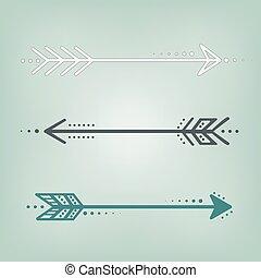 cute retro arrows