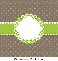 Cute retro background - Cute retro styled background with a...