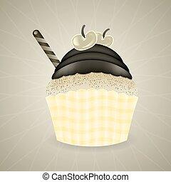 Cute retro cupcake