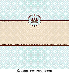 cute retro frame - abstract cute floral retro frame vector...