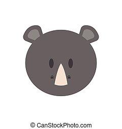 Cute rhino face
