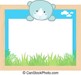cute rhino frame