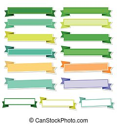 Cute ribbons on white background