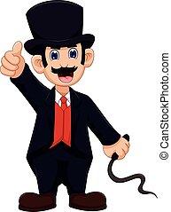 cute Ringmaster cartoon thumb up