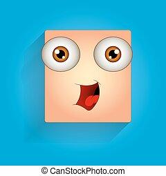 cute, rir, rosto, expressão