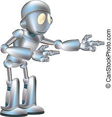 cute, robô, ilustração