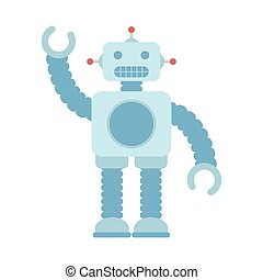cute robot baby toy isolated icon