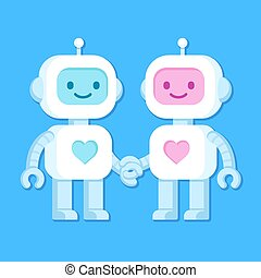 Cute robot couple