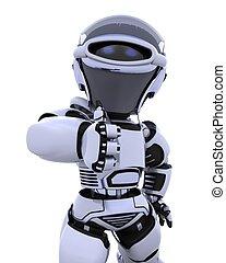 cute robot cyborg - 3D render of a robot