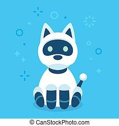 Cute robot dog