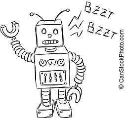 cute robot doodle