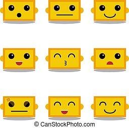 cute robot emoticons set vector-01
