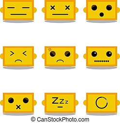 cute robot emoticons set vector-02