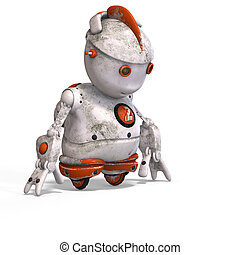cute roboter with lot of emotion - funny roboter with a...