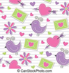 cute romantic pattern