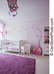 Cute room for baby girl