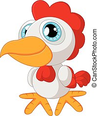 Cute rooster cartoon posing - vector illustration of Cute...