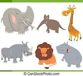 cute safari animals set