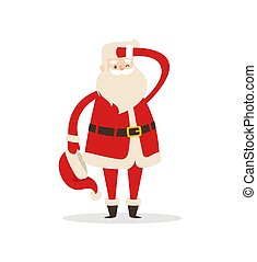 Cute Santa Claus Light Icon Vector Illustration - Cute Santa...