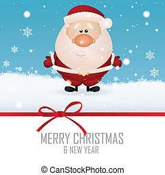Cute Santa claus on special winter background