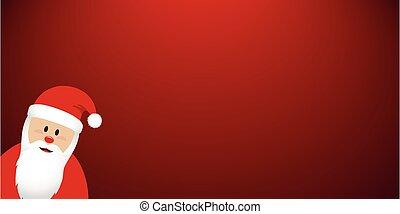 cute santa claus red christmas banner