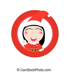 Cute Santa claus vector