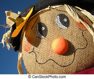 Cute Scarecrow Close-Up