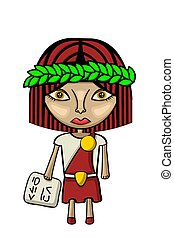 Cute scholar character - Vector illustration of a cute...