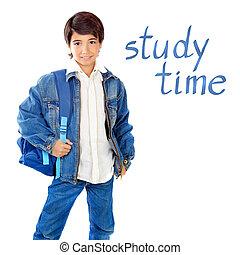 Cute school boy