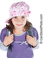Cute schoolgirl with cap