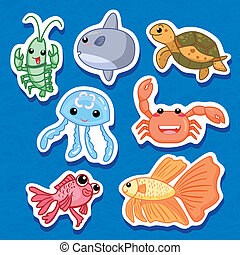 cute sea animal stickers 03 - the cute sea animal stickers